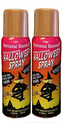 Jerome Russell Halloween Spray BRONZE Temporary Hair Color TWO PACK  *Fast Ship* - Halloween Hair Spray