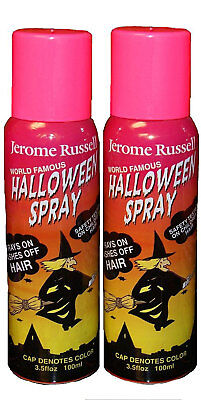 Jerome Russell Halloween Spray PINK Temporary Hair Color TWO PACK  *Fast Ship* - Halloween Hair Spray
