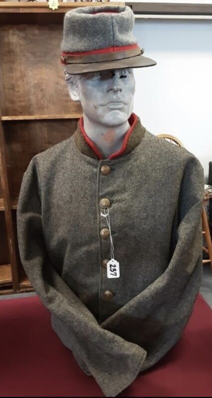 Civil War Confederate Jacket Coat J. H. Silverberg Hat WORN IN MOVIE GETTYSBURG