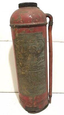 "Antique Copper Alert Extinguisher American LaFrance Fire Engine Co Elmira NY 22"""