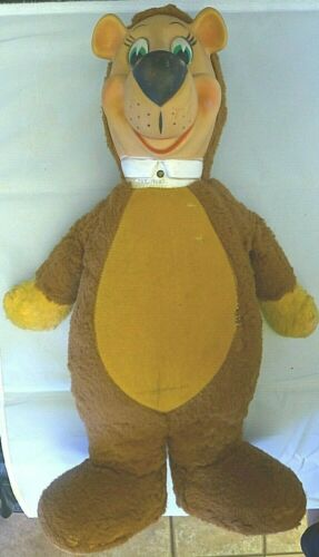 1958 Hanna Barbera YOGI BEAR by Knickerbocker Plush Stuffed Rubber Face