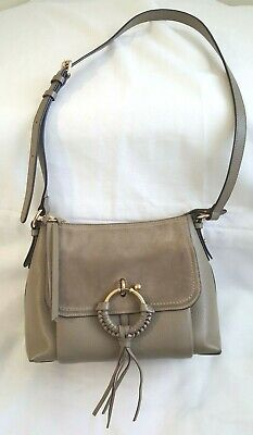 See by Chloe Joan Small Suede & Leather Bag Motty Gray