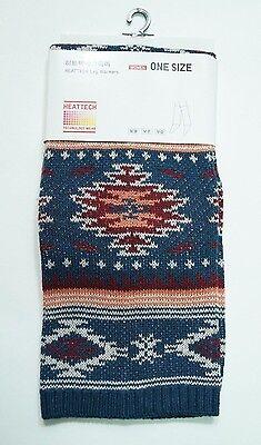 WOMEN HEATTECH Knitted Leg Warmers(Nabajo) Blue (079247)