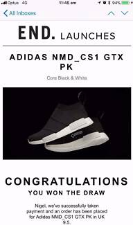 adidas NMD CS1_PK GTX (GORE-TEX) Size UK9.5 Core Black & White