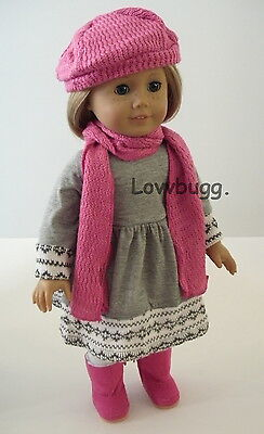 """Lovvbugg Fair Isle Winter Warm Dress Clothes for 18"""" American Girl Doll Clothes"""