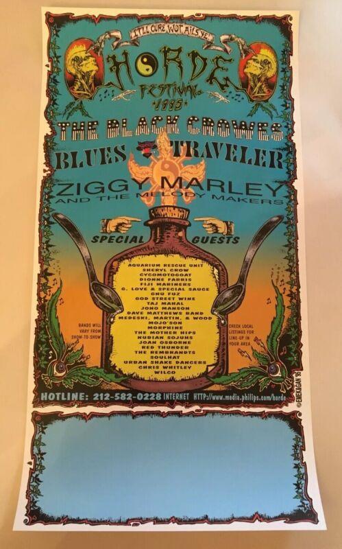 Emek Gan Poster 1995 HORDE Festival Black Crowes Morphine Wilco Dave Matthews