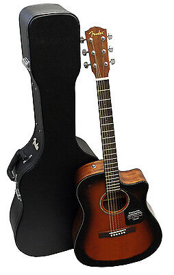 Fender CD60CE V2 Sunburst Sonokeling Acoustic-Electric Guitar with Hard Case! on Rummage