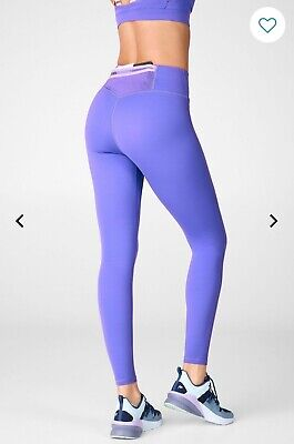 Fabletics Trinity high waisted legging. M. Electric violet/sky purple.