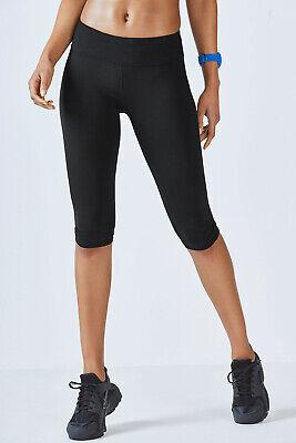 Fabletics Salar Crop Black Leggings Size XXS/2 RRP £44.00