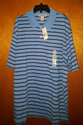 Sun River Clothing Co. Men's Polo Shirt XL *NEW* NWT Striped Golf Casual Top