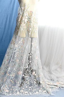 Brautkleid Kostüm Spitze Stoff Blüten Stickerei Brautkleid DIY Rand 0.5 M
