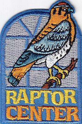 """""""RAPTOR CENTER"""" Iron On Patch Birds Sanctuary Eagle Bird"""