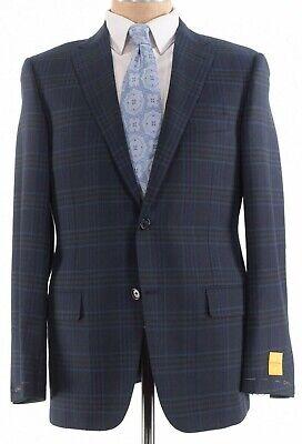 Hickey Freeman NWT Sport Coat Sz 40R In Dark Green Blue Plaid Wool Beacon $1,295