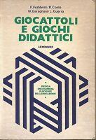 Giocattoli E Giochi Didattici Di Frabboni Conte Garagnani Guerra 1977 Le Monnier -  - ebay.it
