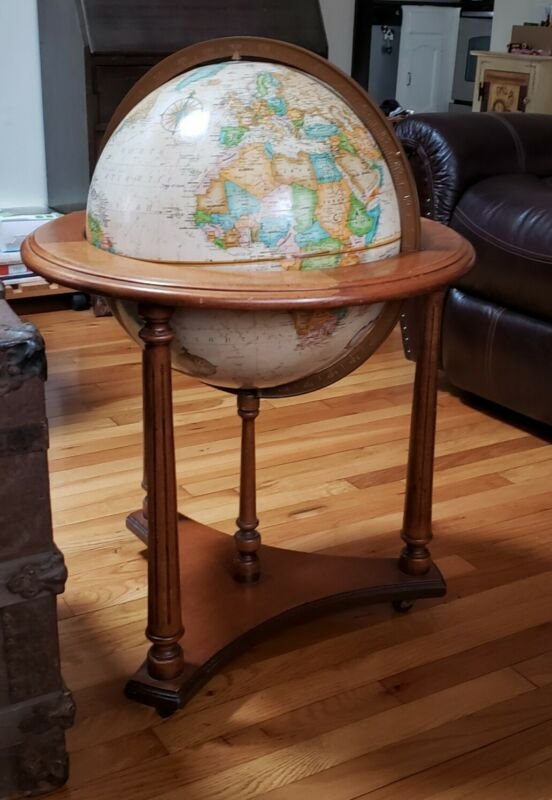 "Replogle Globe World Classic Series 16""globe on finished wood stand"