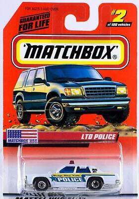 Ridge Police New York Ford LTD MATCHBOX #2 FREE SHIPPING