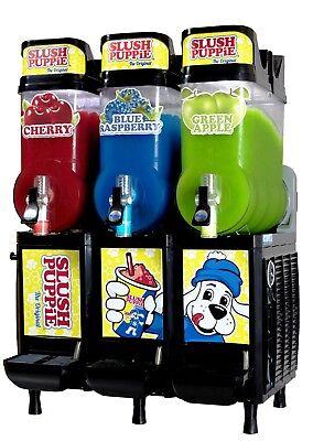 Cab Faby Three Bowl Slush Puppie Machine Smoothie Margarita 60 Day Warranty