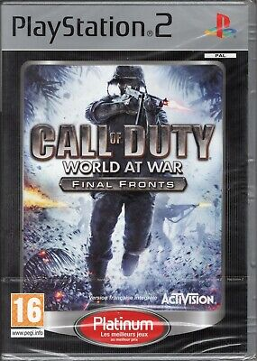 CALL OF DUTY WORLD AT WAR FINAL FRONTS / SONY PS2 /...