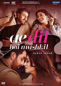 AE DIL HAI MUSHKIL - OFFICIAL BOLLYWOOD DVD - FREE POST