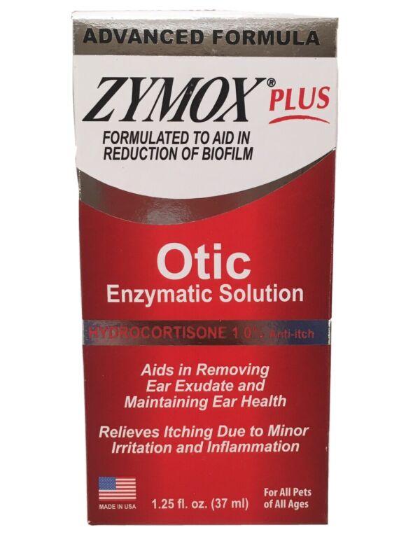 Zymox Plus Otic-HC Advanced Formula Hydrocortisone 1.0% 1.25 oz, New Packaging