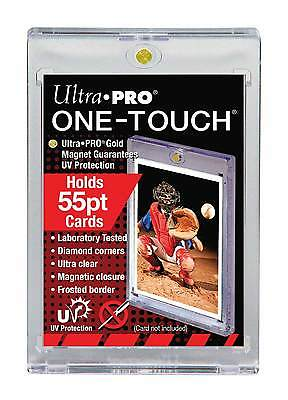 10 ULTRA PRO One Touch Magnetic Holders 55pt UV Gold Magnet 55 point