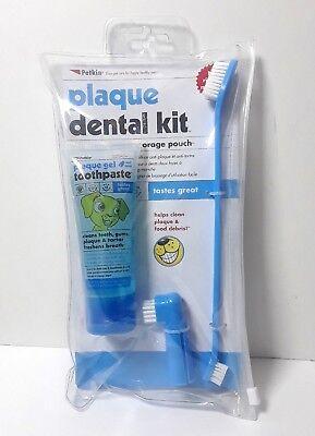 Petkin Plaque Dog Dental Kit Toothpaste & Brushes