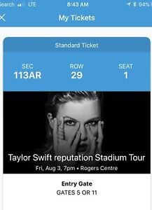 Taylor Swift w/ Camila Cabello Friday Aug 3rd - 6 Seats