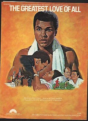 Muhammad Ali - The Greatest - The Greatest Love of All 1977 Sheet (The Greatest Love Of All Muhammad Ali)