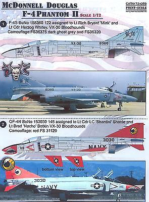 Print Scale Decals 1/72 MCDONNELL DOUGLAS F-4 PHANTOM II Jet Fighter