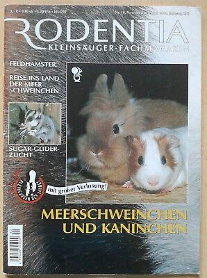 RODENTIA Nr. 10 MEERSCHWEINCHEN & KANINCHEN Nov/Dez 2002 Sammlerausgabe