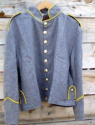 civil war confederate richmond depot cavalry shell jacket shoulder straps   48