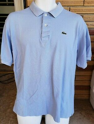 Lacoste Men's sz 7 (XL) S/S Light Blue 2 Button Pullover Cotton Polo Shirt