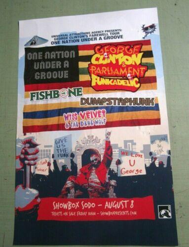 George Clinton & Parliament Funkadelic 2019 Seattle Concert Original Show Poster