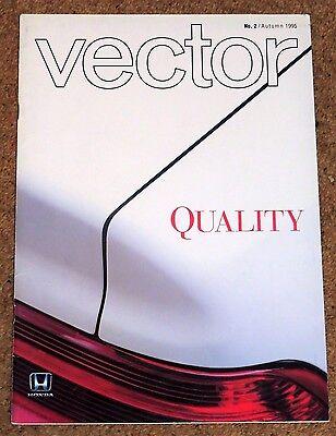 VECTOR MAGAZINE No2 Autumn 1995 - Official Honda Publication