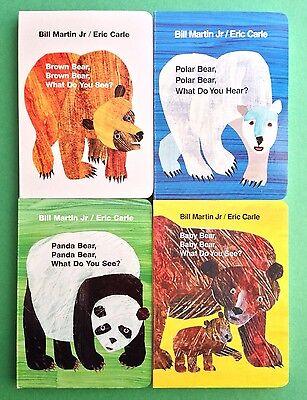 Eric Carle Childrens Books Brown Polar Panda Baby Bear Board Book Box Set  - Brown Bear Brown Bear Book