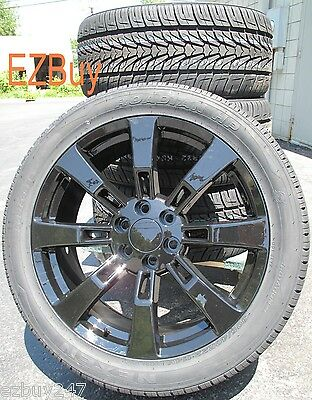 "20"" GMC CHEVROLET ESCALADE FACTORY STYLE BLACK WHEELS 5409 TIRES 275-55-20 NEXEN"