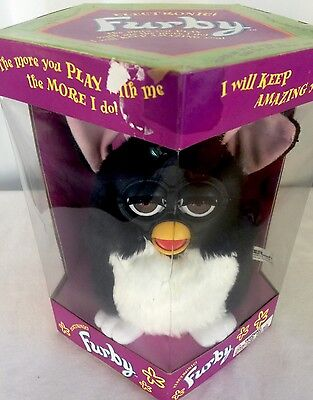 Kyпить Furby Rare Original 1998 Electronic Black and White 1st Generation NIB на еВаy.соm