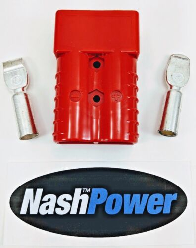 350 Amp Red 2/0 AWG Battery Connector Replaces Anderson 350 Amp