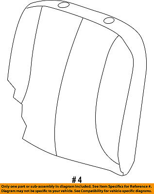 Ram CHRYSLER OEM 13-17 3500 Front Seat-Cushion Cover-Top Back Left 5MW03LT5AB