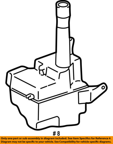 Toyota Oem 97 01 Camry Wiper Washer Windshield Fluid Reservoir Tank