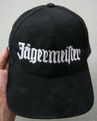 JAGERMEISTER ...SO SMOOTH EMBROIDERED STRAPBACK OSFA HAT CAP, BLACK, EXCELLENT