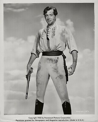 John Payne with a ruffled shirt and a gun ~ ORIGINAL 1950 portrait ~ Tripoli image