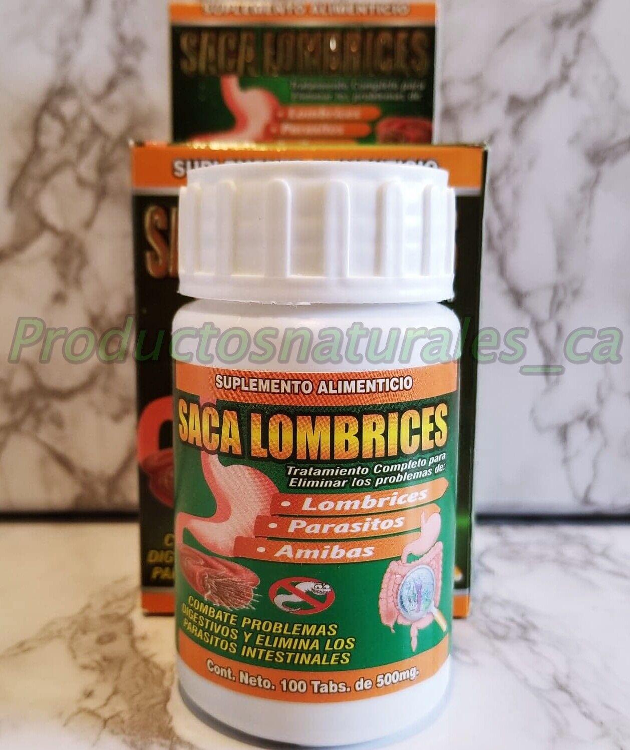Saca Lombrices(Desparasitante tratamiento para Lombrices,Parasitos&Amibas)100Tab 2