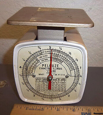 Vintage 1965 Pelouze Postal Scale Model Z-5 Up To 5 Pounds Great Collectible