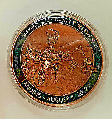 NASA MARS Rover Landing Coin Space Program Bronze Sci Fi Science Moon Red Planet