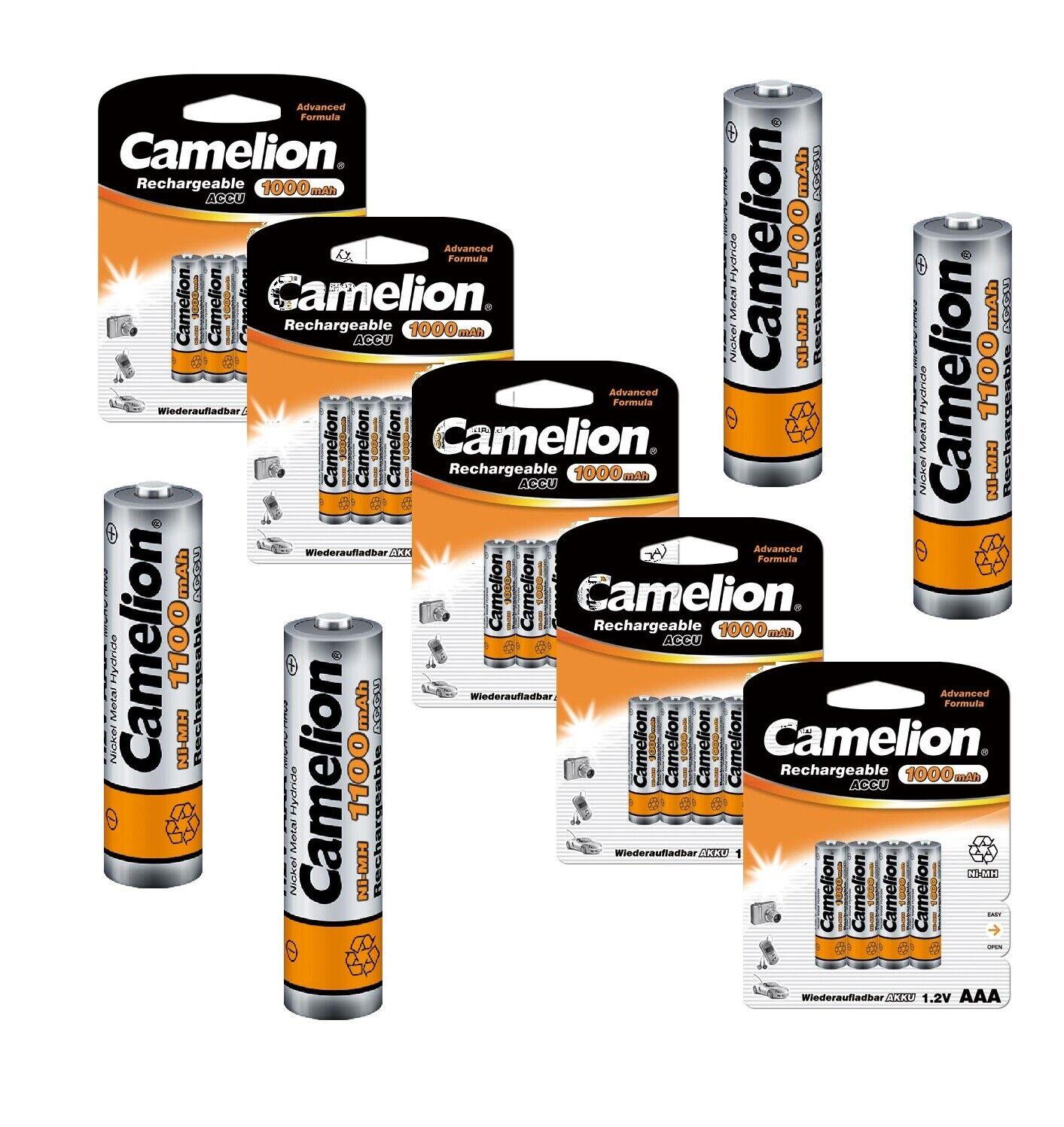 Camelion 1100 mAh AAA Micro Akkus NiMH wiederaufladbare Batterien für zb Telefon