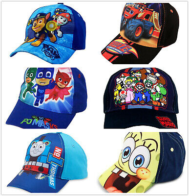Girl Cartoon Character (Kids Little Boys Girls Cartoon Character Baseball Cap Hat Toddler Toy Gift)