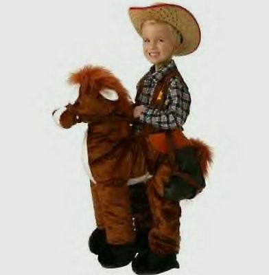 Ride a Pony Horse 3D Plush Costume size 3T- 4T Large Toddler child New made 2007](Ride A Pony Costume)