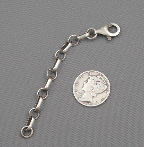 """STERLING SILVER Adjustable Chain Vintage Look NECKLACE Link EXTENDER 3"""" 3.5"""" 4"""""""