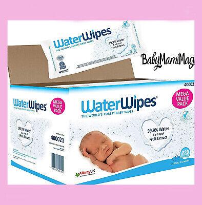 WaterWipes Baby Wipes Sensitive Newborn Skin, 720 Wipes